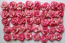 Buy 40 PINK ARTIFICIAL MULBERRY PAPER ROSE FLOWER WEDDING SCRAPBOOK HANDMADE 4.5CM