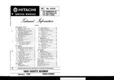 Buy Hitachi VT15A1 Service Manual by download Mauritron #287019