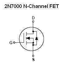 Buy Transistor - 2N7000 N-FET (TO-92) - 26 Pieces