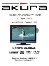 Buy Akura APLDVD3221W HDID IB Service Manual by download Mauritron #330299