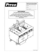Buy Pitco SFSE14R SFSE-14R Service Manual by download Mauritron #328832