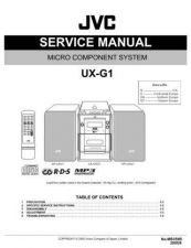 Buy JVC UX-G1-2 Service Manual by download Mauritron #284144