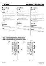 Buy Teac AGH600NT DNT Correc6LA Operating Guide by download Mauritron #318305