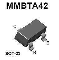 Buy SMT Transistor - MMBTA42 NPN High-Voltage Amplifier (SOT-23) - 18 Pieces