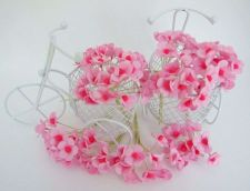 Buy 100 PINK DECORATIVE BLOSSOM MULBERRY PAPER FLOWER ARTIFICIAL CRAFT DAI 1.5 CM