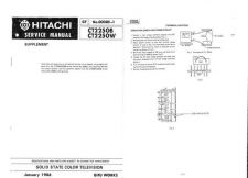 Buy Hitachi CT2254 Service Manual by download Mauritron #285064
