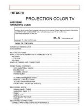 Buy Hitachi 60SX2K Service Manual by download Mauritron #288447