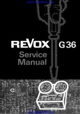 Buy Revox G36 Tape Recorder Service Manual by download Mauritron #327004
