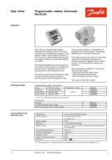 Buy Danfoss VD53P112 RA-plus Operating Guide Instructions by download Mauritron #328299