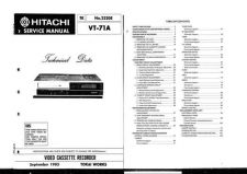 Buy Hitachi VT2010A Service Manual by download Mauritron #287028