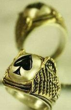 Buy Ace of Spades Winged ring....Sterling Silver