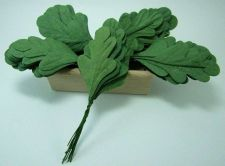 Buy 50 MULBERRY PAPER GREEN LEAVE WIRE STEM CRAFT CARD EMBELLISH WEDDING HANDMADE
