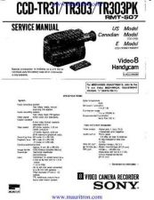 Buy SONY. CCD-TR303 by download Mauritron #315174