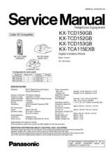 Buy Panasonic TCD150G Manual by download Mauritron #301902
