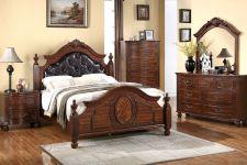Buy Antique Bedroom Queen King Bedroom Furniture w/ Optional 5 pieces Set In Cherry