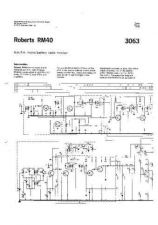 Buy Roberts RM40 Service Sheets by download Mauritron #330958