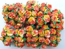 Buy 100 3TONES MULBERRY PAPER MINI ROSE FLOWER ARTIFICIAL CRAFT SCRAPBOOK DAI 1.5 cm