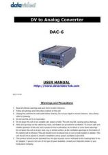 Buy Datavideo DAC-9 Service Manual by download Mauritron #324914