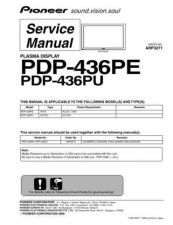 Buy Panasonic PDP-436PE-WYVIXK51[2] (2) Manual by download Mauritron #301052