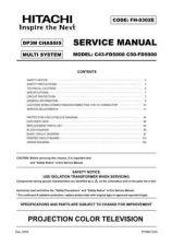 Buy Hitachi C43-FD2000 Service Manual by download Mauritron #288689