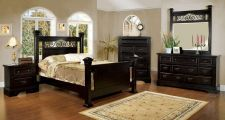 Buy Traditional Espresso Finish Queen King 4 Pc Bedroom Set FOA #CM7496EX