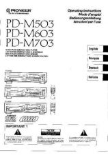 Buy Pioneer PDM603 Operating by download Mauritron #327767