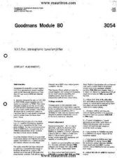 Buy Goodmans Module 80 Part 1 by download Mauritron #328498