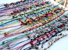 Buy 9 CUTE STYLE MIXED ANKLET CHARM BRACELET HANDCRAFT FASHION ROPE HIPPY WHOLESALE