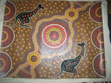 Buy Aboriginal painting canvas Kangaroo Dreaming. aboriginal culture