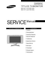 Buy Samsung LS15N13W Service Manual by download Mauritron #322603