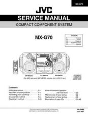 Buy JVC MX-G70UW Service Manual by download Mauritron #282809