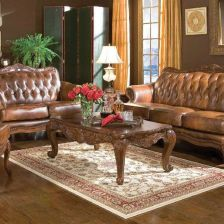 Buy Formal Victoria Sofa Loveseat Chair & Table 6Pc Antique Luxury Living Room Couch