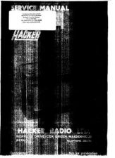 Buy Hacker RP18 Radio Service Manual by download Mauritron #330663
