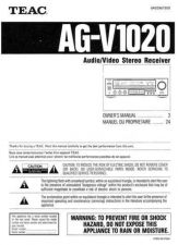 Buy Teac AGV1020EF Operating Guide by download Mauritron #318317