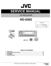 Buy JVC KD-G502-8 Service Manual by download Mauritron #281972