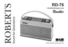 Buy Roberts rambler DAB Radio Operating Instruction Guide by download Mauritron #306678