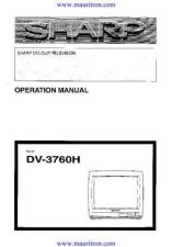 Buy Sharp DV3760H Operating by download Mauritron #325464