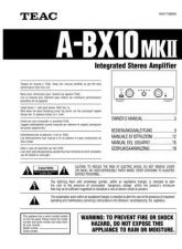 Buy Teac ABX10mk26L Operating Guide by download Mauritron #318238