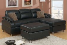 Buy New Sectionals Ebony Sectional sofa 3 piece Living room set Sofa Furniture F7685