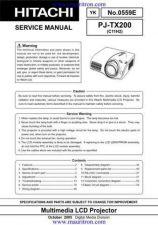 Buy Hitachi PJ-TX200 Manual by download Mauritron #325270