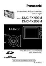 Buy Panasonic DMC-FX7EB Manual by download Mauritron #298745