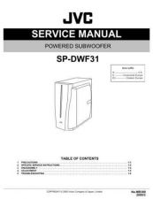 Buy JVC SP-DWF31 Service Manual by download Mauritron #276601