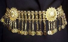 Buy ฺBELT GOLD PLATED LINKED SASH METAL DANCE COSTUME SHOW ALCAZAR SHOW BUCKLE 48""
