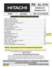 Buy Hitachi PA0178 Service Manual by download Mauritron #323277
