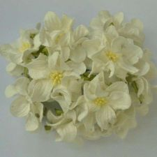 Buy 50 MULBERRY PAPER ARTIFICIAL WHITE GARDENIA HEAD FLOWER CRAFT 5 cm./2 INCHES