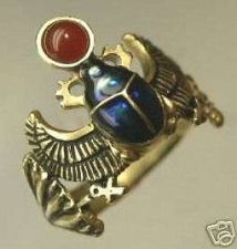 Buy Egyptian18 Karat Gold Winged Scarab ring