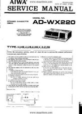 Buy AIWA. ADWX220H. CASSETTE DECK. SERVICE MANUAL. by download Mauritron #329166