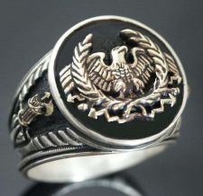 Buy Roman Eagle Fasces Mens ring sterling silver 925