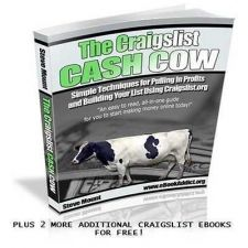 Buy CRAIGSLIST CASH COW-BUILDING YOUR LIST-PDF BOOK-MRR RESELL RIGHTS+2 FREE EBOOKS