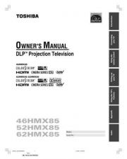 Buy Toshiba 52HMX85 Projection TV Operating Guide by download Mauritron #330075